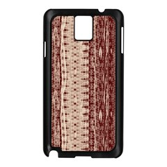 Wrinkly Batik Pattern Brown Beige Samsung Galaxy Note 3 N9005 Case (black) by EDDArt