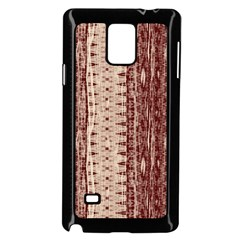Wrinkly Batik Pattern Brown Beige Samsung Galaxy Note 4 Case (black) by EDDArt
