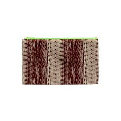 Wrinkly Batik Pattern Brown Beige Cosmetic Bag (xs)