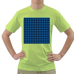 Lumberjack Fabric Pattern Blue Black Green T-shirt by EDDArt