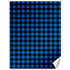 Lumberjack Fabric Pattern Blue Black Canvas 36  X 48   by EDDArt