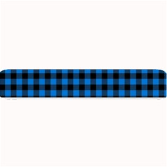 Lumberjack Fabric Pattern Blue Black Small Bar Mats by EDDArt