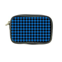 Lumberjack Fabric Pattern Blue Black Coin Purse by EDDArt