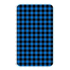Lumberjack Fabric Pattern Blue Black Memory Card Reader by EDDArt