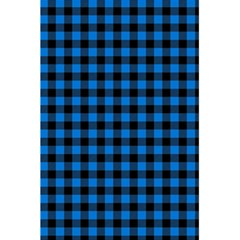Lumberjack Fabric Pattern Blue Black 5 5  X 8 5  Notebooks by EDDArt