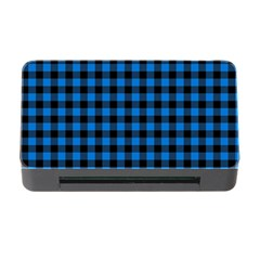 Lumberjack Fabric Pattern Blue Black Memory Card Reader With Cf by EDDArt