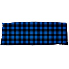 Lumberjack Fabric Pattern Blue Black Body Pillow Case (dakimakura) by EDDArt