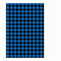 Lumberjack Fabric Pattern Blue Black Small Garden Flag (two Sides) by EDDArt