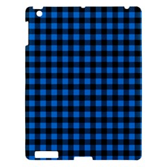 Lumberjack Fabric Pattern Blue Black Apple Ipad 3/4 Hardshell Case by EDDArt