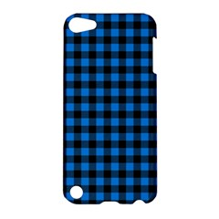 Lumberjack Fabric Pattern Blue Black Apple Ipod Touch 5 Hardshell Case by EDDArt