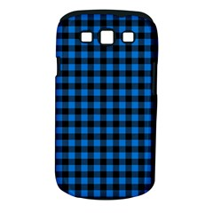 Lumberjack Fabric Pattern Blue Black Samsung Galaxy S Iii Classic Hardshell Case (pc+silicone) by EDDArt