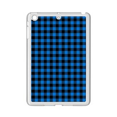 Lumberjack Fabric Pattern Blue Black Ipad Mini 2 Enamel Coated Cases by EDDArt