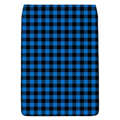 Lumberjack Fabric Pattern Blue Black Flap Covers (l)  by EDDArt