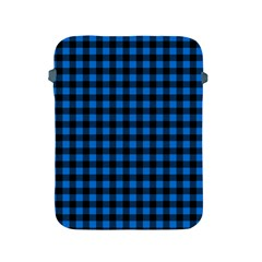 Lumberjack Fabric Pattern Blue Black Apple Ipad 2/3/4 Protective Soft Cases by EDDArt