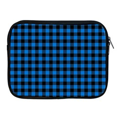 Lumberjack Fabric Pattern Blue Black Apple Ipad 2/3/4 Zipper Cases by EDDArt