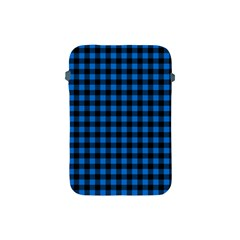 Lumberjack Fabric Pattern Blue Black Apple Ipad Mini Protective Soft Cases by EDDArt