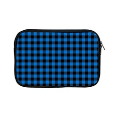 Lumberjack Fabric Pattern Blue Black Apple Ipad Mini Zipper Cases by EDDArt