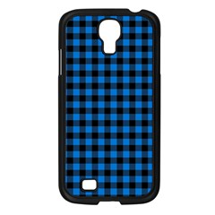 Lumberjack Fabric Pattern Blue Black Samsung Galaxy S4 I9500/ I9505 Case (black) by EDDArt