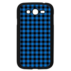 Lumberjack Fabric Pattern Blue Black Samsung Galaxy Grand Duos I9082 Case (black) by EDDArt