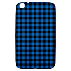 Lumberjack Fabric Pattern Blue Black Samsung Galaxy Tab 3 (8 ) T3100 Hardshell Case  by EDDArt