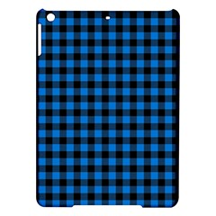 Lumberjack Fabric Pattern Blue Black Ipad Air Hardshell Cases by EDDArt