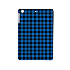 Lumberjack Fabric Pattern Blue Black Ipad Mini 2 Hardshell Cases by EDDArt