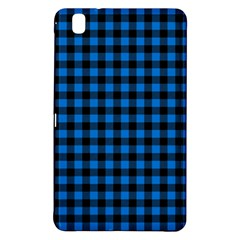 Lumberjack Fabric Pattern Blue Black Samsung Galaxy Tab Pro 8 4 Hardshell Case by EDDArt