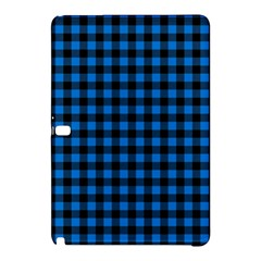 Lumberjack Fabric Pattern Blue Black Samsung Galaxy Tab Pro 12 2 Hardshell Case by EDDArt