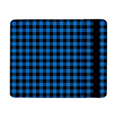 Lumberjack Fabric Pattern Blue Black Samsung Galaxy Tab Pro 8 4  Flip Case by EDDArt