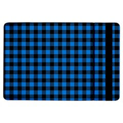 Lumberjack Fabric Pattern Blue Black Ipad Air Flip by EDDArt