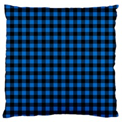Lumberjack Fabric Pattern Blue Black Standard Flano Cushion Case (two Sides)