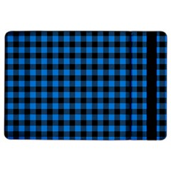 Lumberjack Fabric Pattern Blue Black Ipad Air 2 Flip by EDDArt