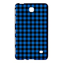Lumberjack Fabric Pattern Blue Black Samsung Galaxy Tab 4 (7 ) Hardshell Case  by EDDArt