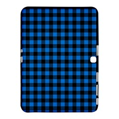 Lumberjack Fabric Pattern Blue Black Samsung Galaxy Tab 4 (10 1 ) Hardshell Case  by EDDArt