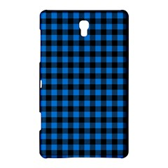 Lumberjack Fabric Pattern Blue Black Samsung Galaxy Tab S (8 4 ) Hardshell Case  by EDDArt