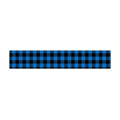 Lumberjack Fabric Pattern Blue Black Flano Scarf (mini) by EDDArt