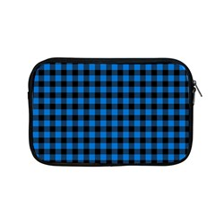 Lumberjack Fabric Pattern Blue Black Apple Macbook Pro 13  Zipper Case by EDDArt