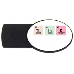 Think   Chemistry Usb Flash Drive Oval (4 Gb) by Valentinaart