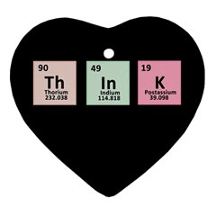 Think   Chemistry Heart Ornament (two Sides) by Valentinaart