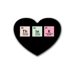 Think   Chemistry Rubber Coaster (heart)  by Valentinaart
