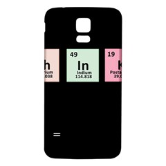 Think   Chemistry Samsung Galaxy S5 Back Case (white)