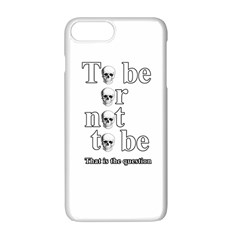 To Be Or Not To Be Apple Iphone 7 Plus White Seamless Case by Valentinaart