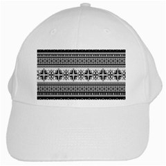 Pattern White Cap by Valentinaart