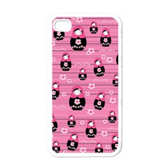 Matryoshka Doll Pattern Apple Iphone 4 Case (white) by Valentinaart