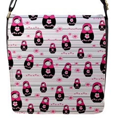 Matryoshka Doll Pattern Flap Messenger Bag (s)