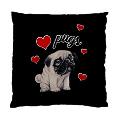 Love Pugs Standard Cushion Case (two Sides) by Valentinaart