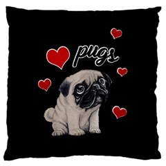 Love Pugs Standard Flano Cushion Case (two Sides)