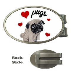 Love Pugs Money Clips (oval)  by Valentinaart