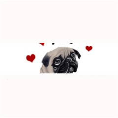 Love Pugs Large Bar Mats by Valentinaart