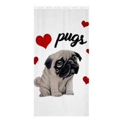 Love Pugs Shower Curtain 36  X 72  (stall)  by Valentinaart